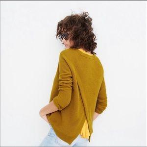 Madewell Province Cross Back Mustard Sweater • Med